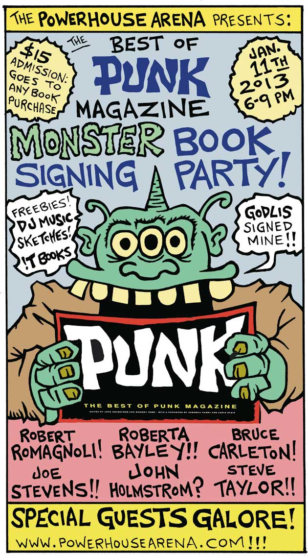 Poster of Book Signing party by John Holstrom