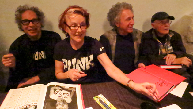 Punk Photography Royalty (L - R) Godlis, Bayley, Gruen & Stevens. pic:Tom Hearn