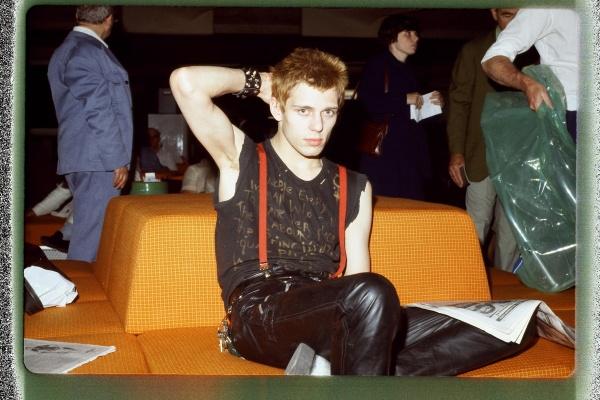 The Clash bassist Paul Simonon, Electric Ladyland, August 1978. Photo: Joe Stevens